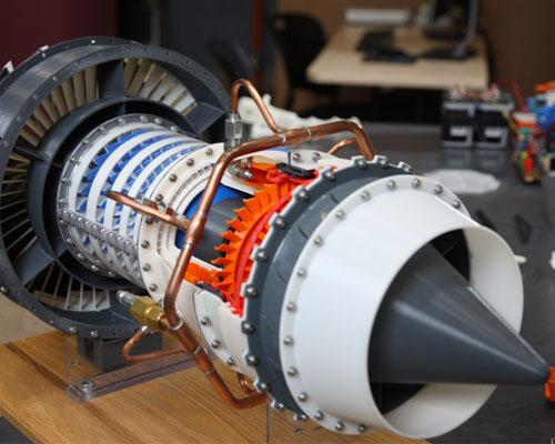 ساخت موتور هواپیما توسط پرینترهای سه بعدی